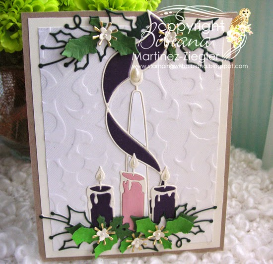advent embossed background card
