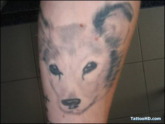 Dogs Leg Tattoos for Girls
