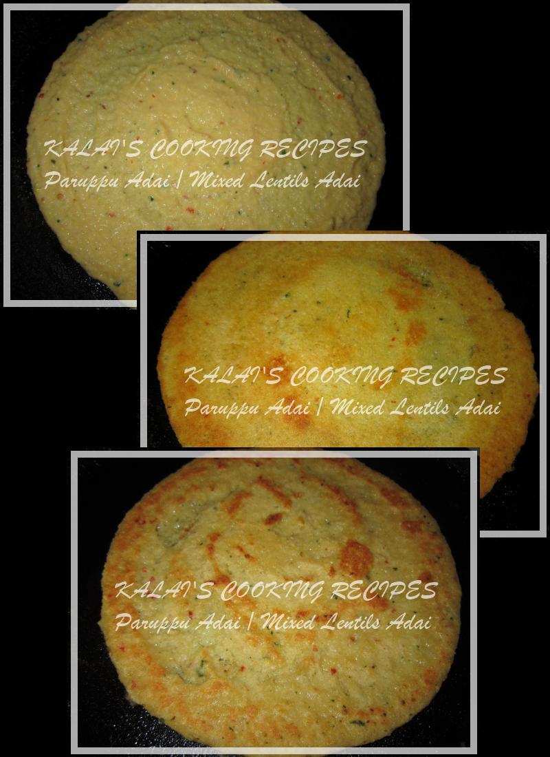 Paruppu Adai / Mixed Lentils Adai