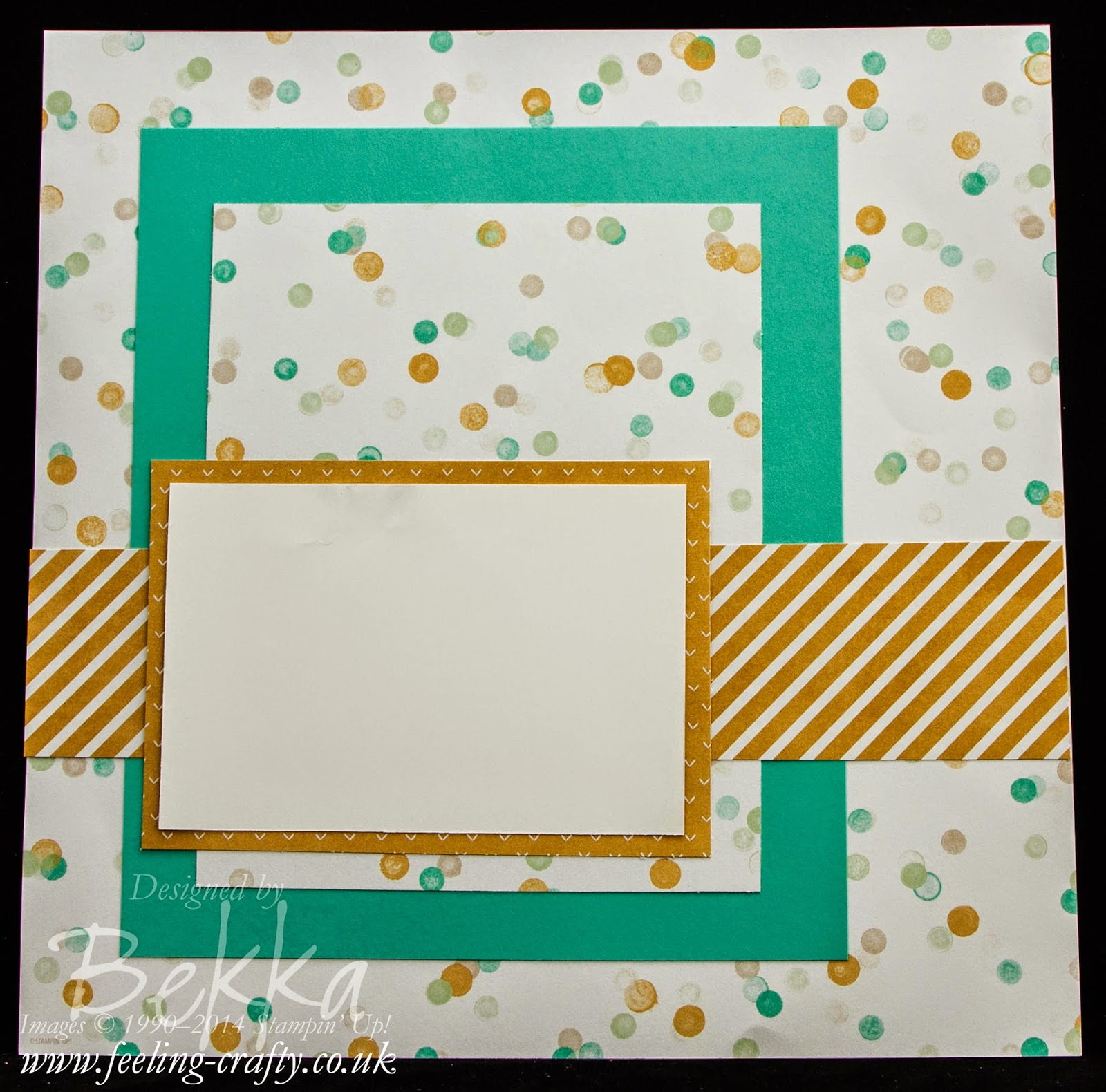 A Spotty Scrapbook Startpoint Page by Stampin' Up! UK Independent Demonstrator Bekka