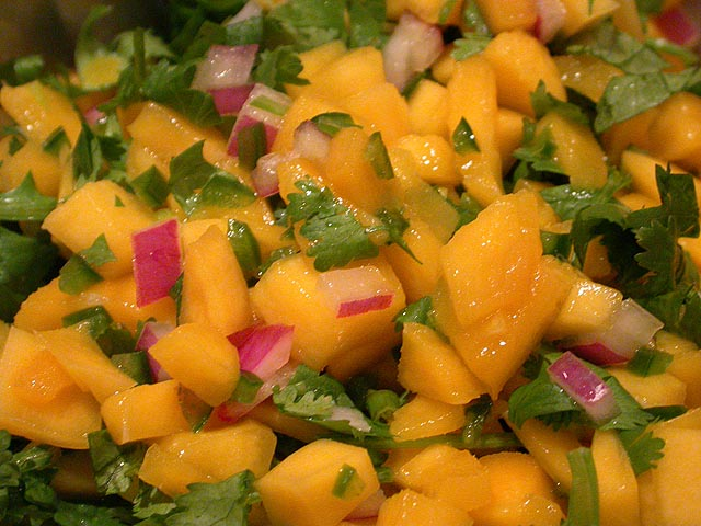 Mango salsa - for when tomato just won't do.