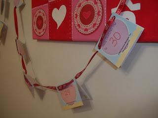 Kids' Countdown Valentine Calendar Garland