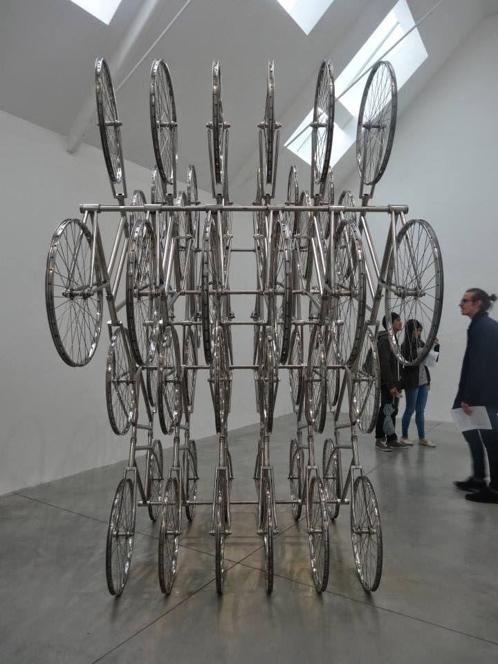 Ai Weiwei Exhibition at Lisson Gallery, London 6 times 4 bikes parallel