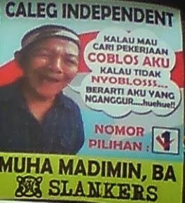 Poster Iklan Caleg Paling Unik