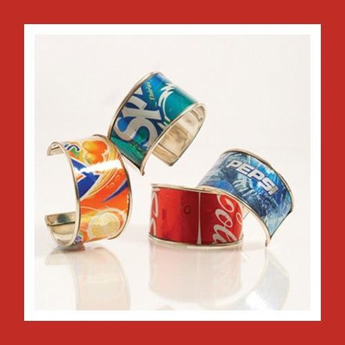 Soft drink can bracelets