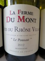 La Ferme Du Mont Le Ponnant Côtes du Rhône-Villages 2012 - Unfiltered, AC, Rhône, France (89 pts)