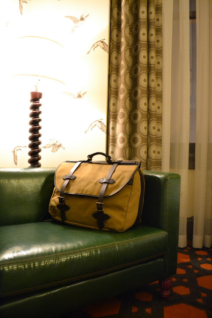 Filson, luggage, might as well have the best, portland, seattle, hotel monaco