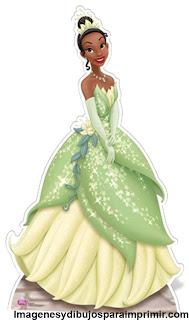 Dibujos de princesa disney Tiana para imprimir