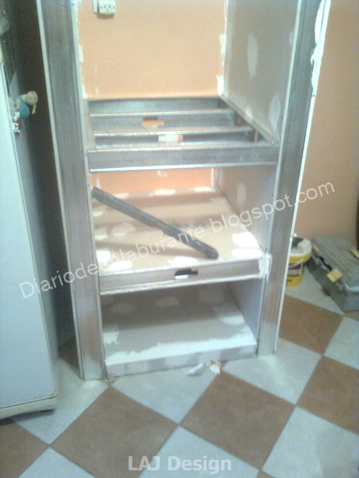Diario de un laburante mueble durlock en la cocina parte 1 - Estante microondas ...