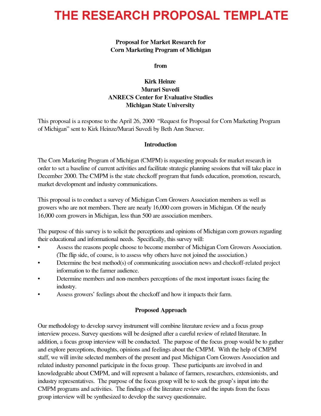 Examples of thesis proposals