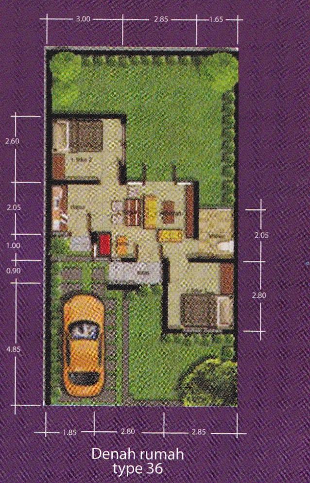contoh rumah minimalis type 36 terbaru lengkap dengan