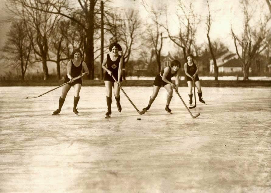 Partido de hockey sobre hielo 1925