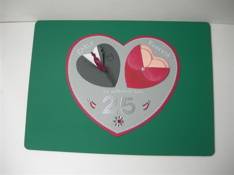 Favoloso Cose di Clem: Wedding anniversary card - Biglietto anniversario  TL46