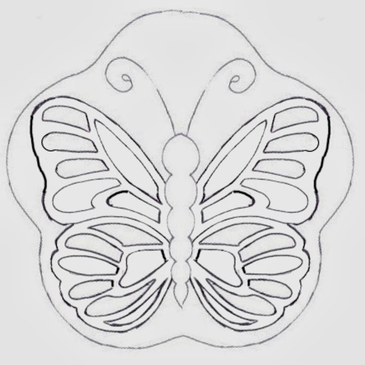 Cake Decorating Butterfly Template : Montreal Confections: Butterfly cake - How to make a ...