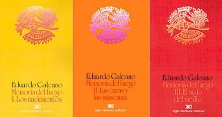 """""""Memoria del Fuego (trilogía)"""" - libros de Eduardo Galeano - publicados entre 1982 y 1986 - cuentan la historia de América Latina, desde la creación del mundo hasta nuestros días  Memoriasdelfuego"""