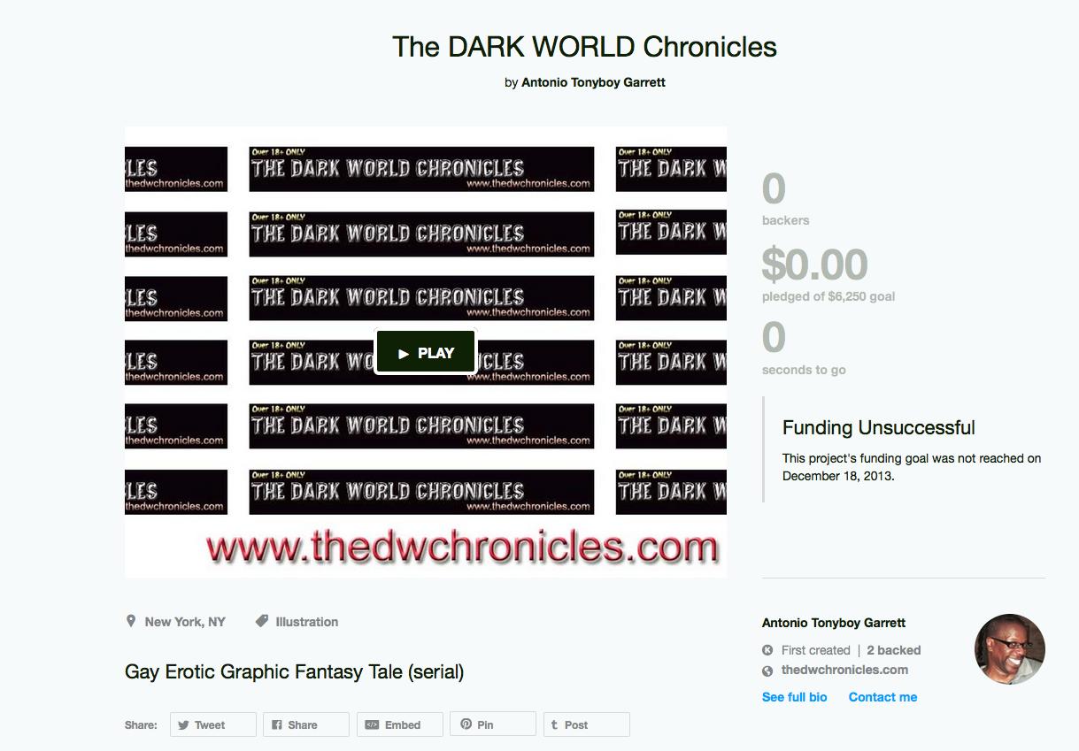 Kickstarter Project info.