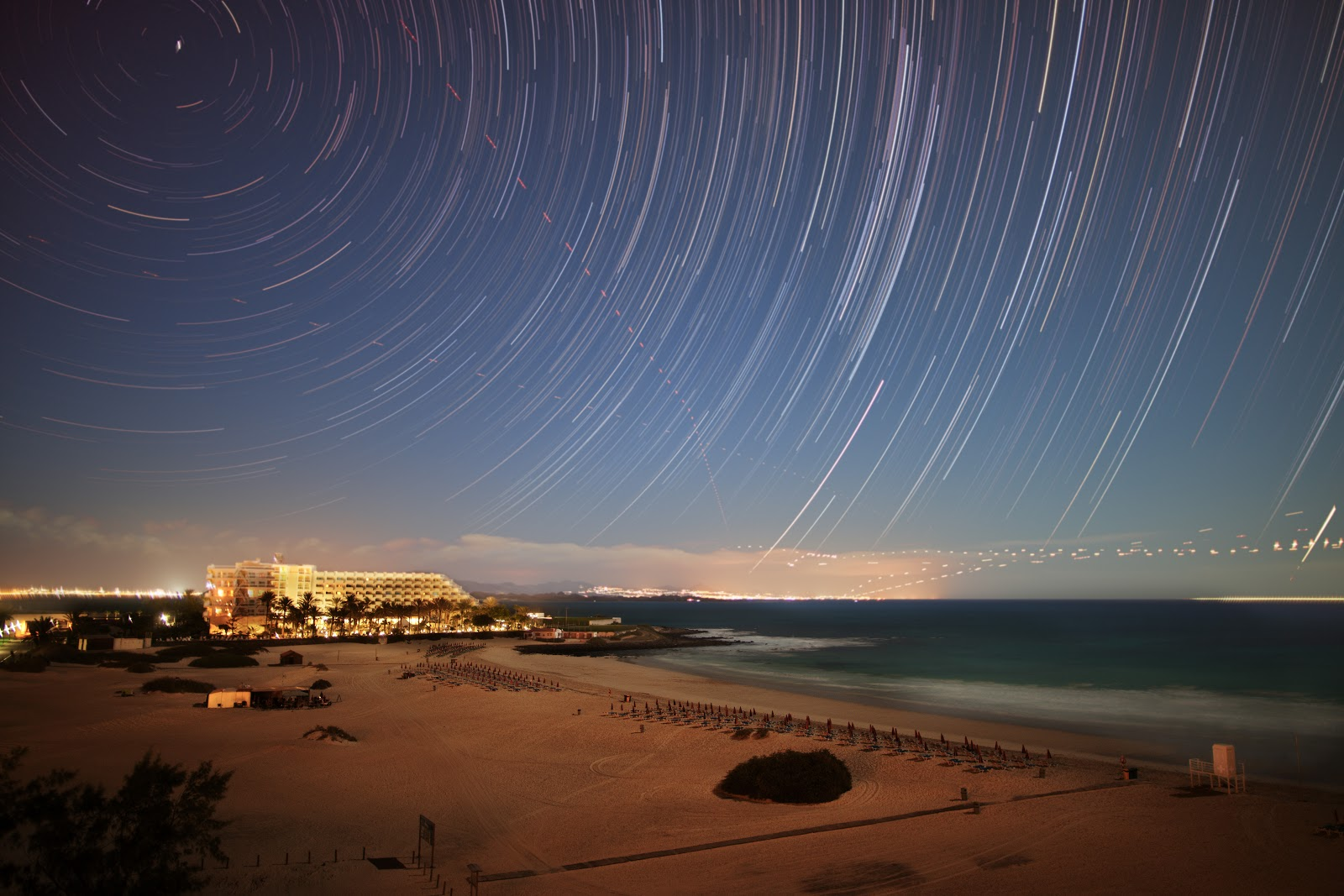 Star trails photo