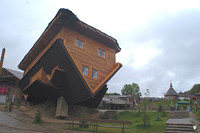 Upside down house szymbark poland The upside house