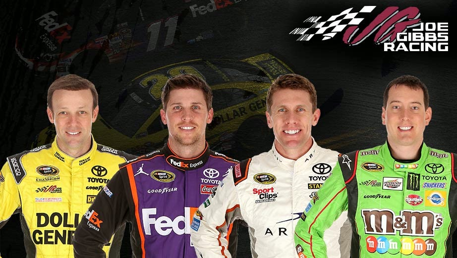 Joe Gibbs Racing = Matt Kenseth, Denny Hamlin, Carl Edwards and Kyle Busch