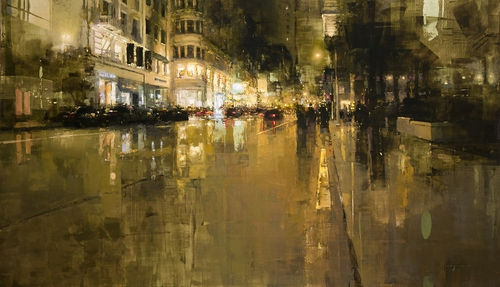 02-Union-Square-in-Yellow-Jeremy-Mann-Figurative-Painting-in-Cityscapes-Oil-Paintings-www-designstack-co
