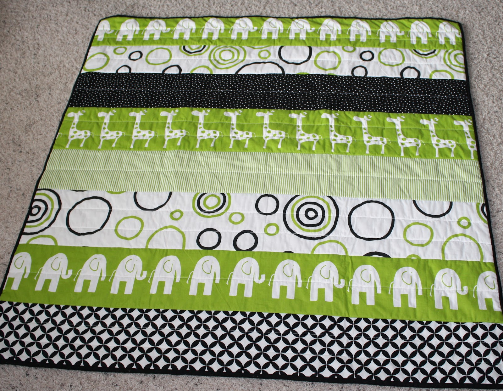 Holly And Olive Modern Strip Quilt