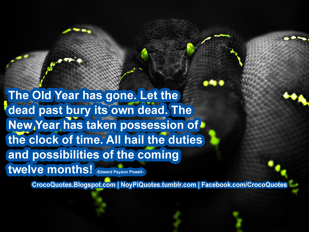 CrocoQuotes: The Old Year has gone
