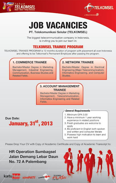 telkomsel trainee program 2013