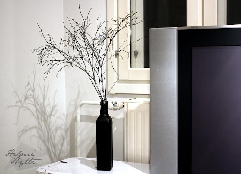 minimalistinen joulukoriste hopeiset mustikanvarvut