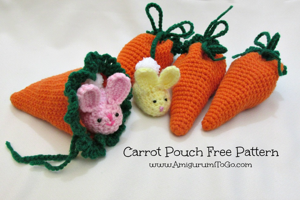 Amigurumi To Go Tutorial : Carrot pouch tutorial amigurumi to go