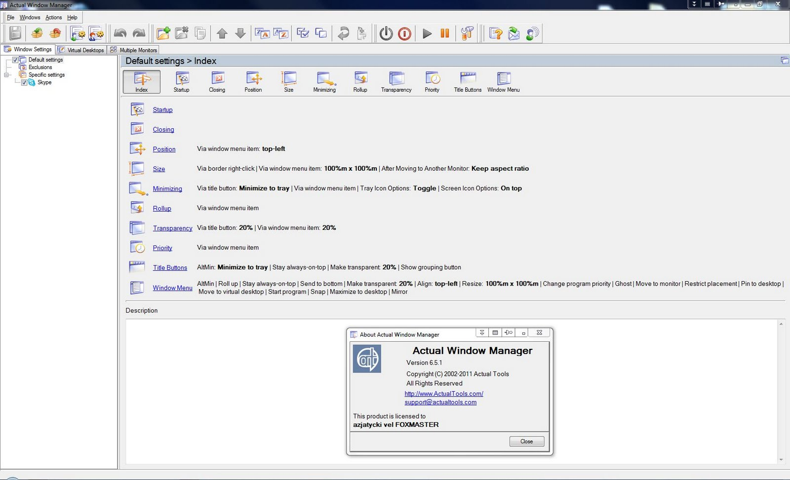 Actual Window Manager 6.5.1 Final - Multilanguage + Serial