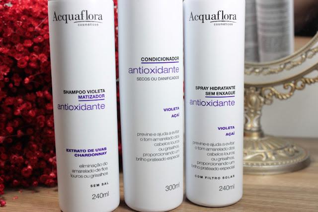 acquaflora, matizante, antioxidante, cabelo, cabelo loiro, desamarelador, shampoo roxo, loiro, vídeo, fashion mimi, beleza