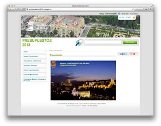 Web Municipal Presupuestos 2013