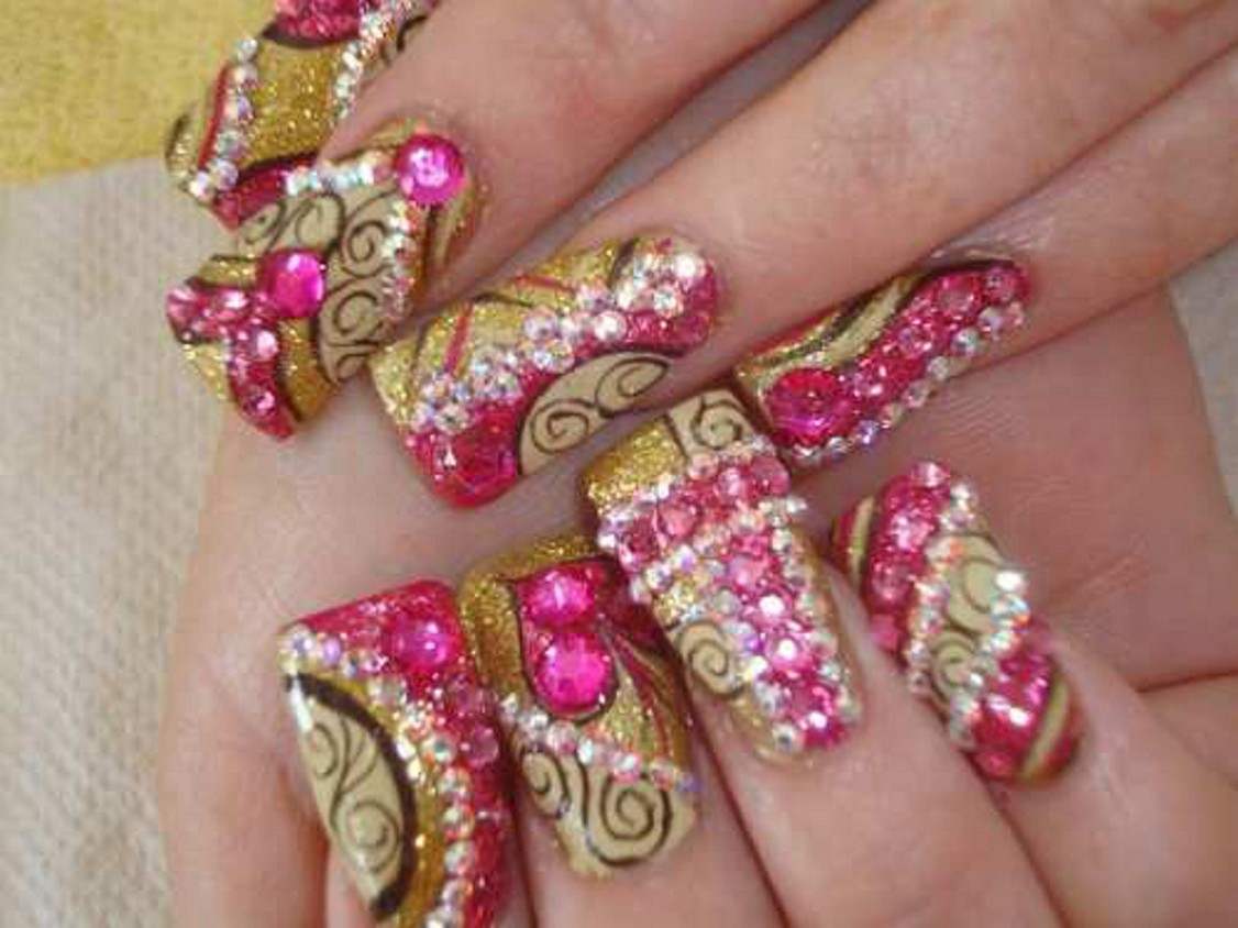 Cute acrylic nails designs 2014