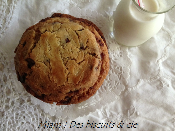 Thousand-layer chocolate chip & Nutella cookies - Miam ! Des biscuits