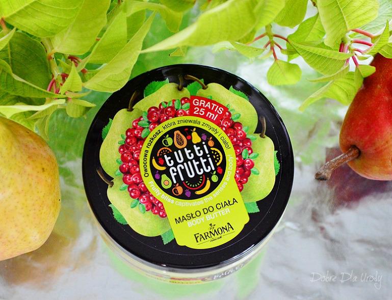 Farmoną Tutti Frutti Gruszka & Żurawina masło do ciała