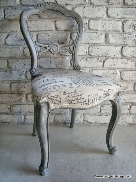 Restyled Vintage French Script Chair