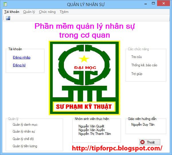 do an tot nghiep Mã nguồn Phần mềm Quản Lý Nhân Sự Cty TNHH Việt Anh