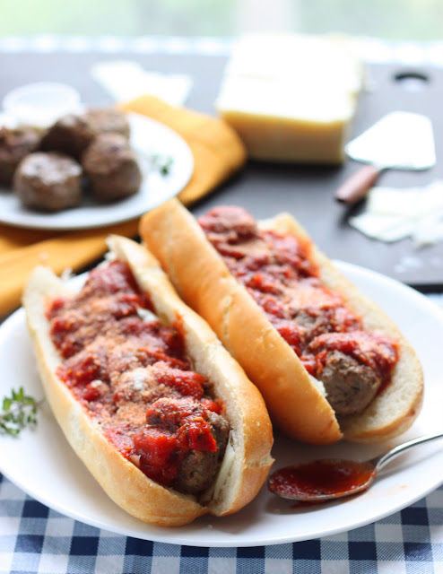 Bacon Meatball Subs