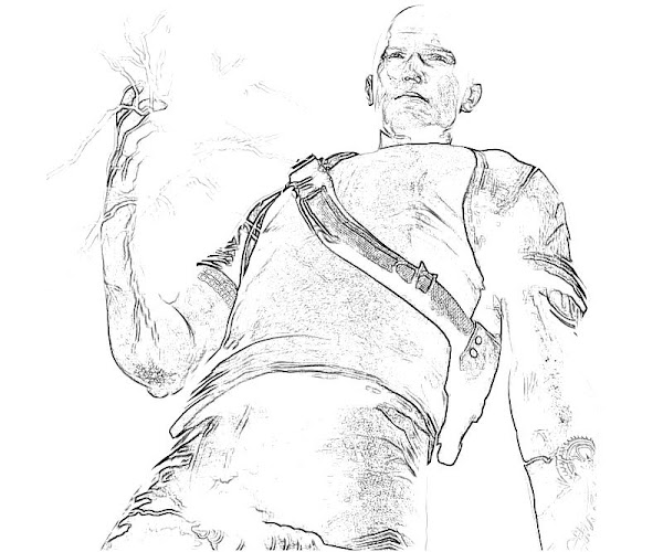 Cole Infamous 2 Coloring Page