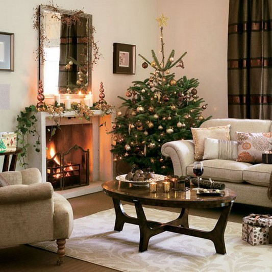 inspire you to design a living room decor with the spirit of christmas