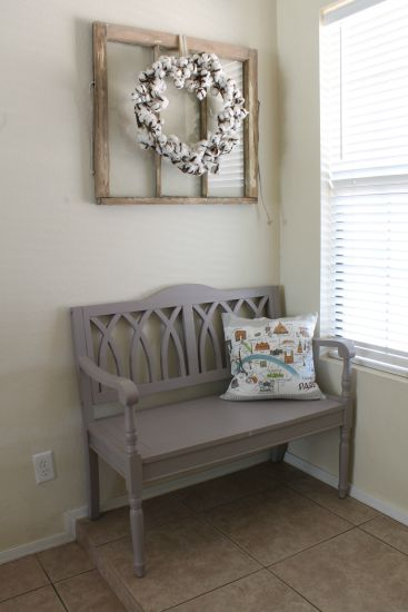 Hung The Window In Entry Of Course It Needed Something So I Added A Cotton Wreath That Got From Decor Steals Love How All Looks Together