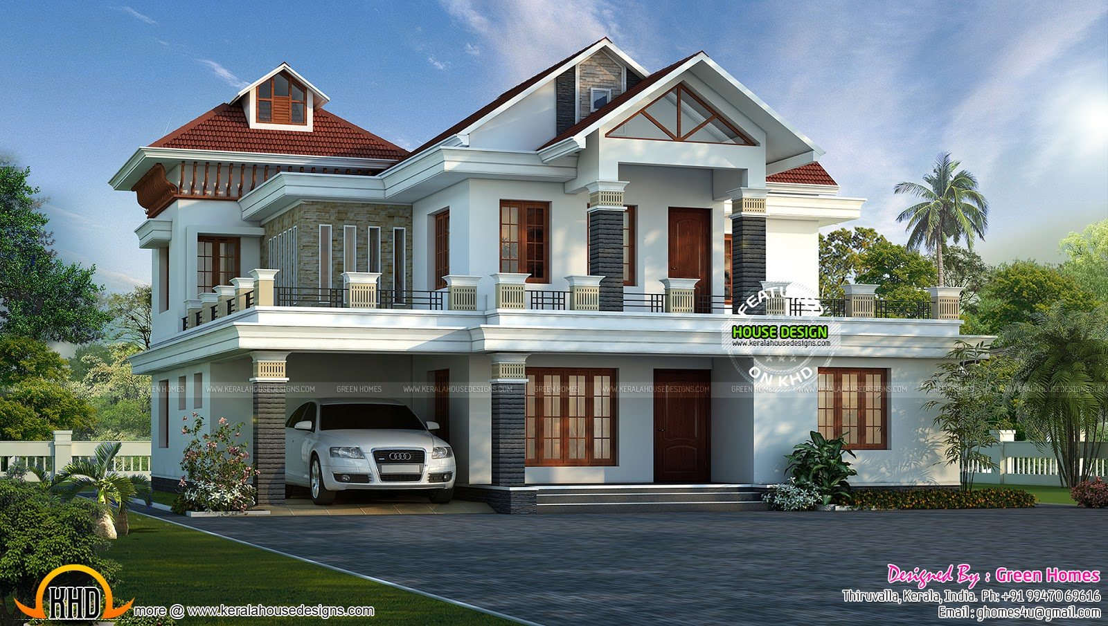 Dream home india kerala home design and floor plans for Kerala dream home photos