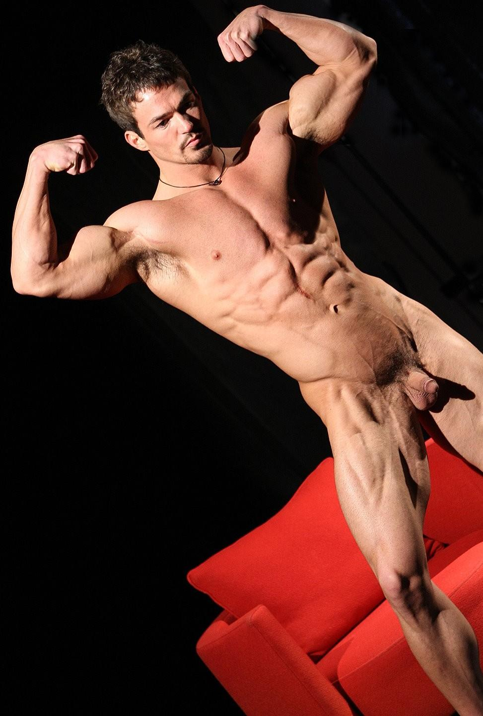 Bodybuilder Hard Penis Line