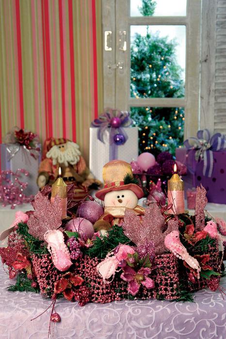 Detodomanualidades como hacer un centro de mesa navide o for Como hacer un centro de mesa navideno