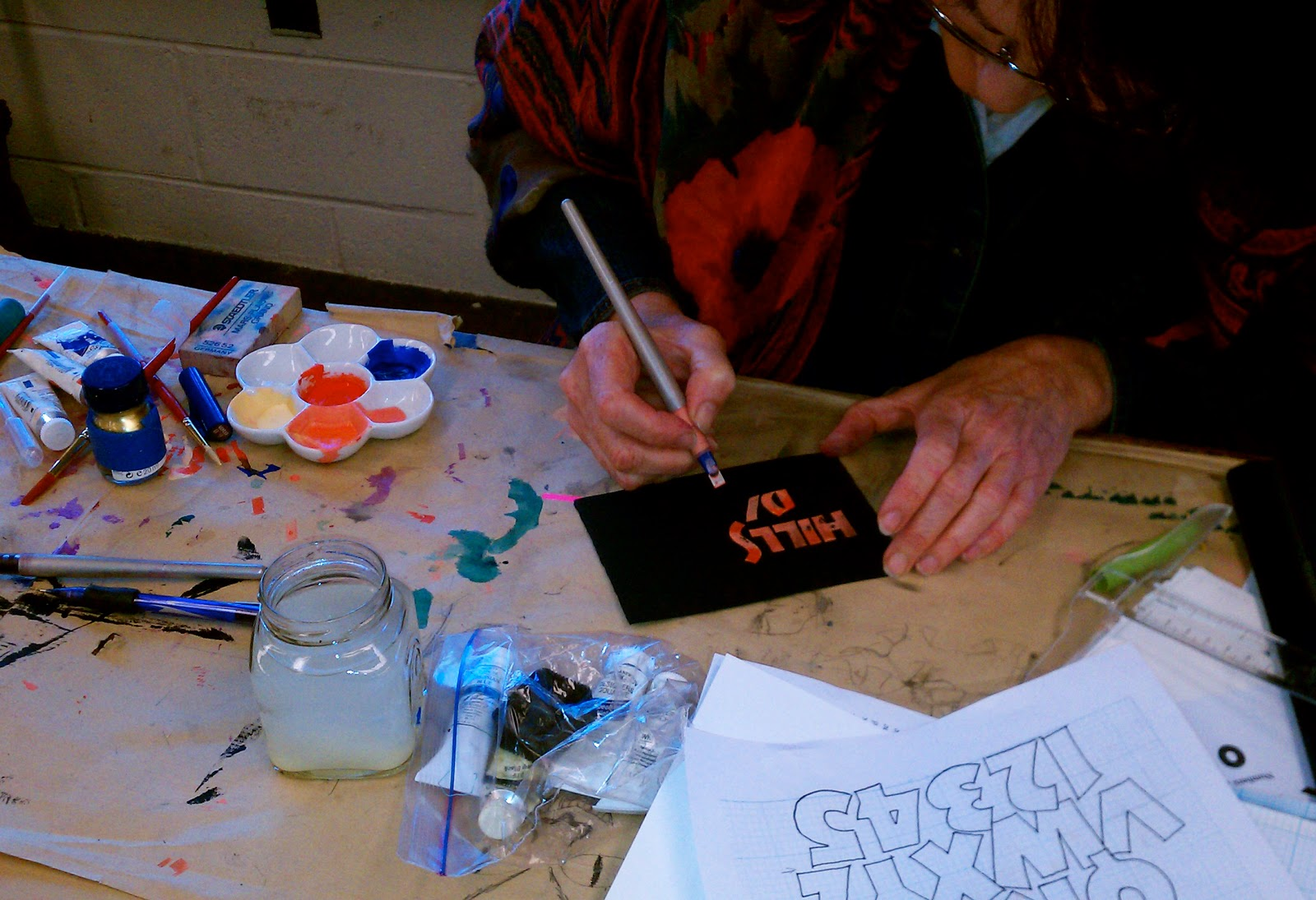 Roann Mathias Calligraphy Neuland Workshop In Philly