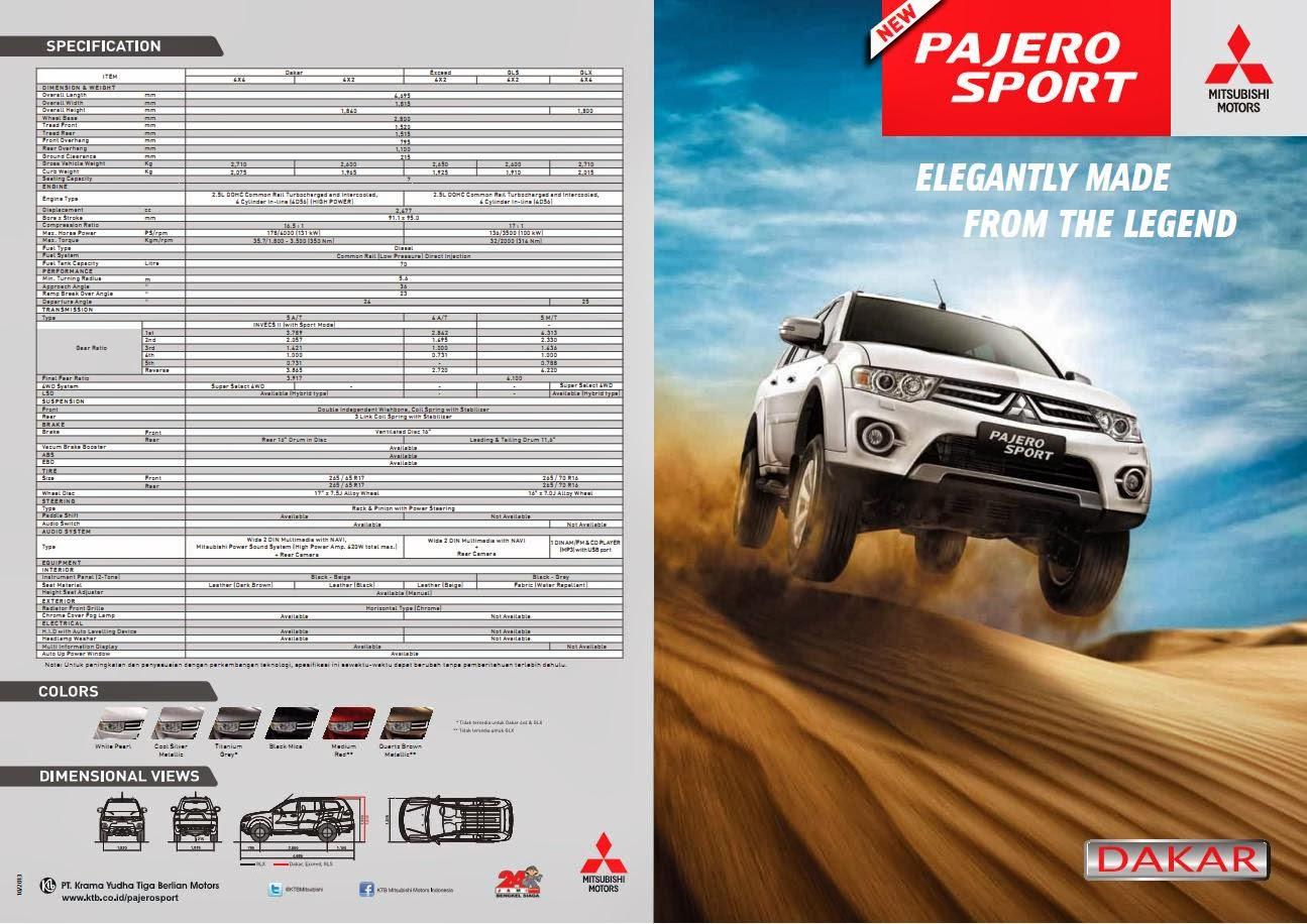 Brosur Mitsubishi New Pajero Sport 2013 - Mitsubishi Surabaya