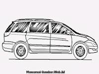 Mewarnai Gambar Mobil Toyota Sienna