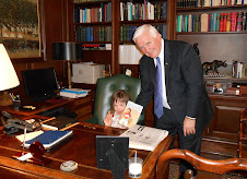 "Chloe visits the Governor's Residence and signs book ""BRILLIANT SOULS"""