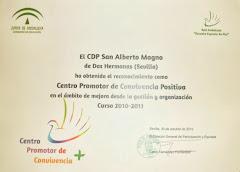 """RECONOCIMIENTO como """"Centro Promotor de Convivencia Positiva"""""""