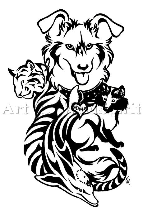 Animal Celtic Tribal Tattoo Designs